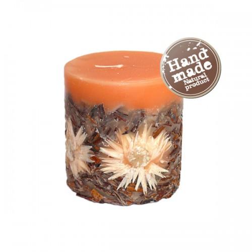 Декоративная свеча Корица и цветы - Декорированные свечи