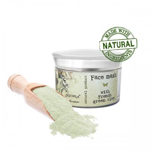 Маска для лица с французской зеленой глиной
